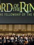 Thrilled to be receiving the immediate standing ovation from the audience after conducting Lord of the Rings: Fellowhip of the Ring: Live to projection with the St. Louis Symphony Orchestra (April 1, 2, 3, 2011)